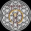 Logo dark liver mit Blume des Lebens weiß 1.0