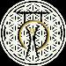 Logo schwarz mit Blume des Lebens weiß 2.0